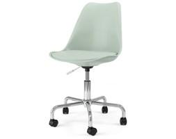 Krzesło Gina Mimi miętowe nogi chromowe na kółkach