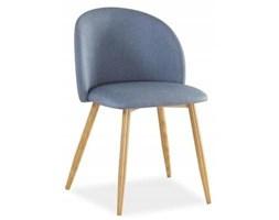 Krzesło tapicerowane do jadalni denim nowoczesne