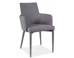 Krzesło tapicerowane jadalnia szare skandynawskie