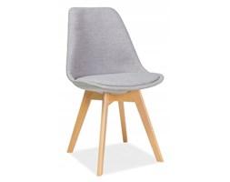 Krzesło skandynawskie kuchenne szare tapicerowane