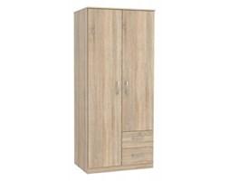 Szafa dąb sonoma ubraniowa szuflady garderoba