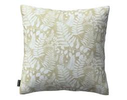Dekoria Poszewka Kinga na poduszkę, białe gałązki na beżowym tle, 43 × 43 cm, Pastel Forest