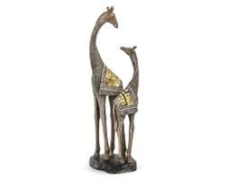 ŻYRAFY figurka, dekoracja, wys. 46 cm