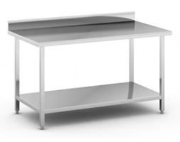 Stół roboczy ze stali nierdzewnej z półką, 1500 x 800 x 850 mm