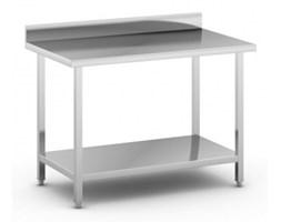 Stół roboczy ze stali nierdzewnej z półką, 1200 x 700 x 850 mm