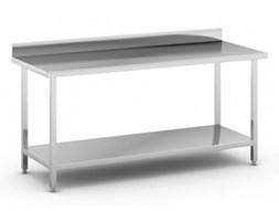 Stół roboczy ze stali nierdzewnej z półką, 1800 x 700 x 850 mm