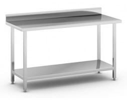 Stół roboczy ze stali nierdzewnej z półką, 1500 x 600 x 850 mm