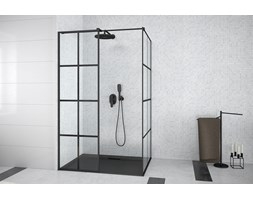 Kabina prysznicowa walk-in 100x90x190 Besco EXCEA EXC-109-190B czarna
