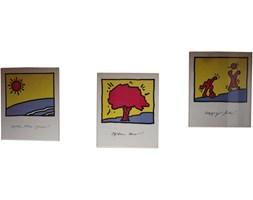 Seria trzech plakatów, aut. K. Haring, lata 90.