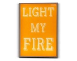 LIGHTHINK BOX-Lampa stojąca LED Drewno & Plexi 30x21cm