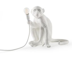 MONKEY-Lampa stojąca Małpa siedząca z abażurem Wys.32cm