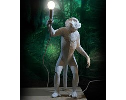MONKEY-Lampa stojąca Małpa stojąca z abażurem Wys.54cm