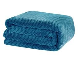 Koc RICKY z miękkiej tkaniny 200x220cm: Kolor - Niebieski