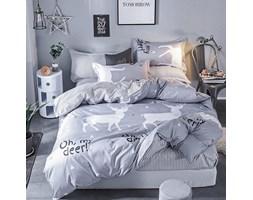 Komplet pościeli WHITE DEER 160x200cm: Kolor - Czarny