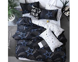 Komplet pościeli NIGHT OF STARS 200x220cm: Kolor - Granatowy