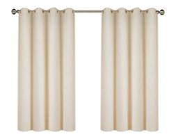 Zasłona FELICIA z matowej tkaniny na przelotkach 145x160cm: Kolor - Ecru