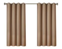 Zasłona FELICIA z matowej tkaniny  na przelotkach 145x160cm: Kolor - Beżowy
