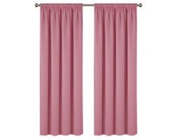 Zasłona ELODIA z matowej tkaniny na taśmie 145x250cm: Kolor - Różowy