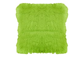 Poszewka dekoracyjna ELMO z długiego włosia 40x40cm: Kolor - Zielony