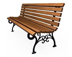 elegancka ławka parkowa visteria 4v - palisander