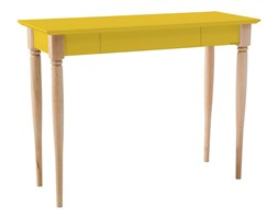 Biurko Mamo 105x40 cm żółte