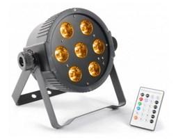Beamz FlatPAR 7x 15W 5-w-1 Color RGBAW-LED DMX IR z pilotem