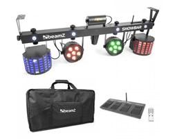Beamz ShowBar 2x PAR 2x Butterfly laser C/Z z bezprzewodowym włącznikiem nożnym pilot