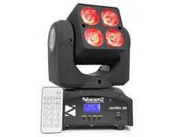 Beamz Matrix 22 Poczwórna głowica ruchoma 4 x LED CREE RGBW 10 W 9 efektów Gobo 7 kolorów DMX
