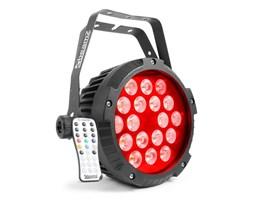 Beamz BWA418 reflektor projektor LED PAR 18x12W diody LED 4-w-1 RGBW IP65 czarny