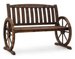 Blumfeldt Murnau ławka ogrodowa opalane drewno jodłowe brązowa