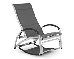 Blumfeldt Beverly Wood Leżak fotel bujany aluminium szary