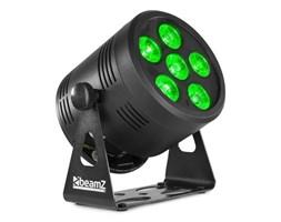 Beamz BBP66 Uplight PAR projektor LED PAR 6x 4w1 LED RGBW, czarny