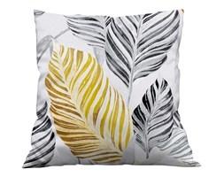 Poszewka dekoracyjna na poduszke w  40x40 Liście żółto szare