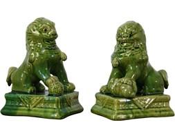 Para ceramicznych figurek Psa Fo, lata 60.