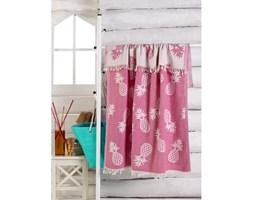 Różowy bawełniany ręcznik Ananas, 180x100 cm