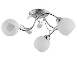 Lampa sufitowa żyrandol nowoczesny LIVIA chrom/biały śr. 48cm