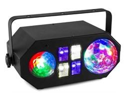 Beamz LEDWAVE LED Jelly Ball, 6x3W, RGB, Fala Wodna, 1x4W RGBW UV / Strobe 4x3W, Czarna