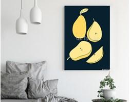 Obraz na płótnie - Wektorowy ustawiający kreskówek bonkrety na ciemnym tle. Ilustracja owoców kuchni - 70 x 100 cm