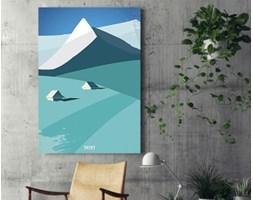 Obraz na płótnie - Ilustracja - Tatry - 80 x 120 cm