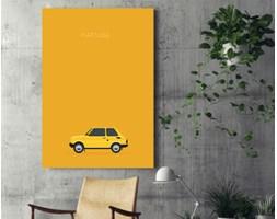 Obraz na płótnie - Polskie samochody - FIAT 126p - 80 x 120 cm