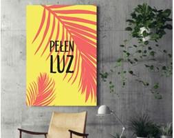 """Obraz na płótnie - """"Pełen luz"""" - hasło motywacyjne w ciepłych barwach - 80 x 120 cm"""