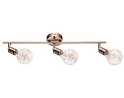 Lampa BULBS listwa sufitowa 3pkt żarówki miedziano - szklane