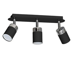 Lampa sufitowa nowoczesna reflektorek spot JOKER III czarny szer. 45cm