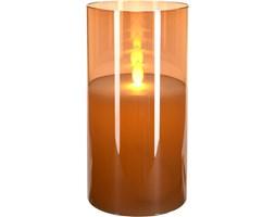 Świeca LED z efektem ruchomego płomienia, szklana, 10 x 20 cm