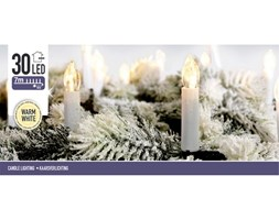 Świeczki dekoracyjne, 30 LED, wewnętrzne, kolor biały