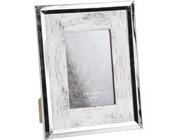 Ramka na zdjęcia, srebrna z przecieraniem 19 x 24 cm