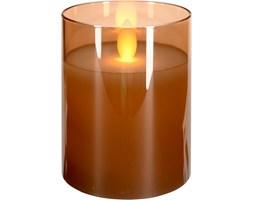 Świeca LED z efektem ruchomego płomienia, szklana, 10 cm