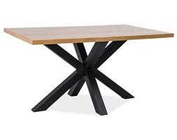 Stół Cross Okleina Naturalna Dąb/Czarny  150x90