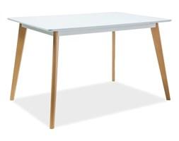 Stół Declan I Biały/Buk 120x80