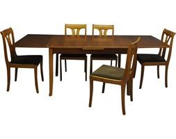 Komplet rozkładany stół i pięć krzeseł, Lübke, Niemcy, lata 60.